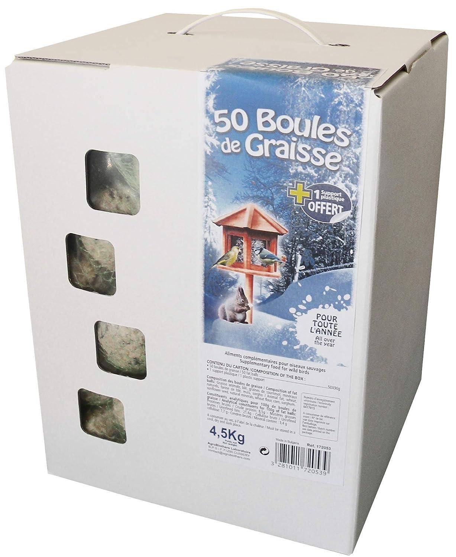 Agrobiothers Carton DE 50 Boules de Graisse pour Oiseau/Animal Sauvage 172053