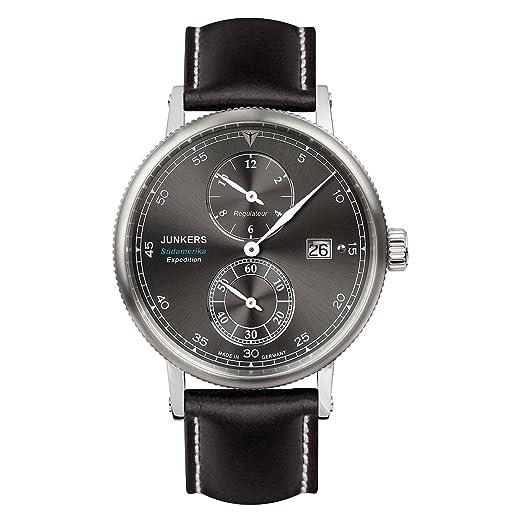 Reloj Automático Junkers Expedition South America, Negro, 42 mm, Día, 6512-2: Amazon.es: Relojes
