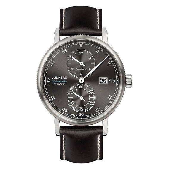 Reloj Automático Junkers Expedition South America, Negro, 42 mm, Día, 6512-