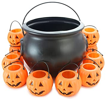 well pack box halloween pumpkin pack 10 mini 25 orange plastic jack o lantern pumpkins