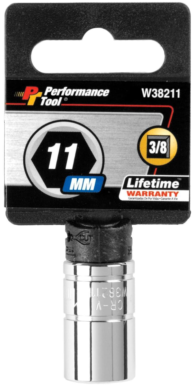 3//8 Drive//18 mm 18mm 6-Point Socket Performance Tool W38218 Drive