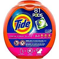 Tide Pods Liquid Detergent Pacs, Fresh Coral Blast, 81 Count