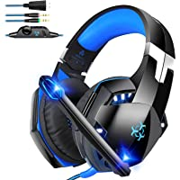Bovon Cascos Gaming, Auriculares Gaming para PC/Tablet/Laptop,