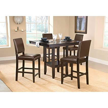 Amazon Com Arcadia 5 Pc Parson Dining Table Chairs Set Table