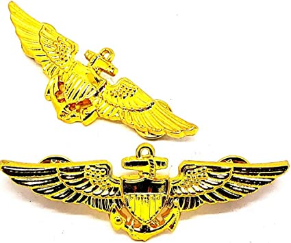 US Navy Aviation Wing Badge Naval Aviator Pilot Pin Military Insignia USN
