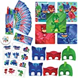 PJ Masks Birthday Party Favor Pack with Crayons, Stickers, Tattoos, Masks, and