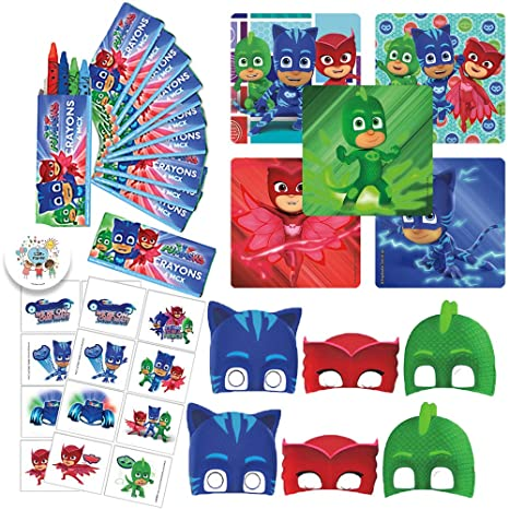Amazon PJ Masks Birthday Party Favor Pack With Crayons Stickers Tattoos And EXCLUSIVE Pin By Another Dream Toys Games