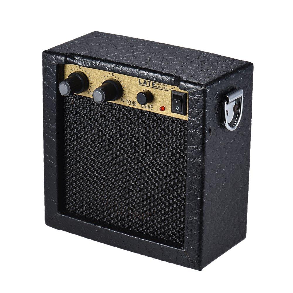 ammoon Guitar Bass Ukulele Amplifier Speaker High-Sensitivity 3 Watt 9-Volt with Volume Tone Control Overdrive Function 1