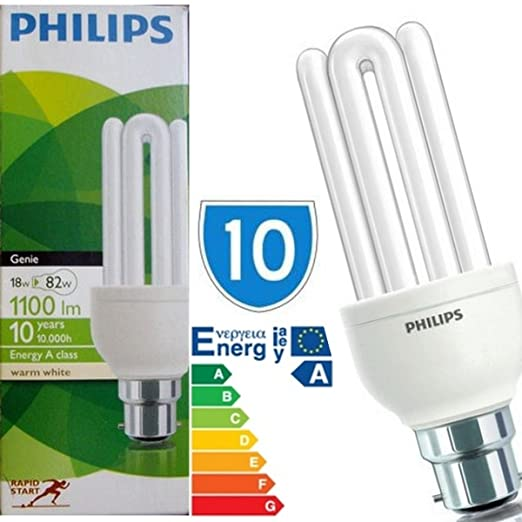 10 x bayonet cap 18 watt philips genie 18w 60w bulb b22 light 10 x bayonet cap 18 watt philips genie 18w 60w bulb b22 light bulbs lamp publicscrutiny Gallery