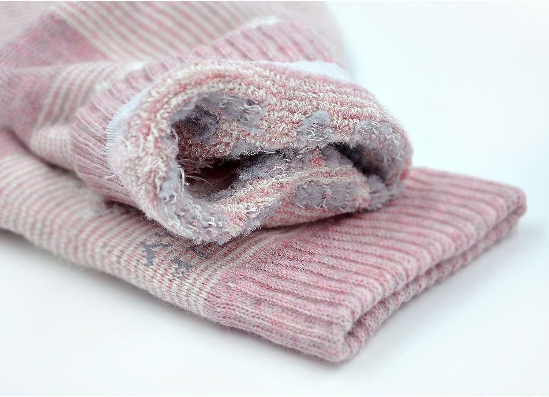 Inverno Caldo Termici Donna Calze Colorful EU 36-42 Teenloveme Calzini Caldi e Morbidi da Donna 4 paia
