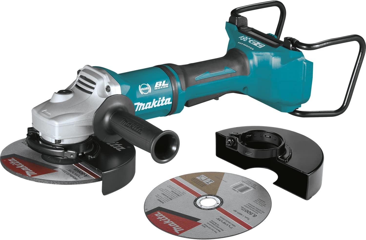 Makita XAG12Z1 18V X2 LXT Lithium-Ion 36V Brushless Cordless 7 Paddle Switch Cut-Off Angle Grinder, with Electric Brake, Tool Only