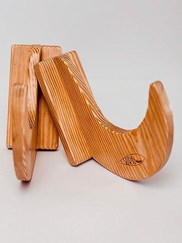 Estantes de madera maciza hechos a mano para tabla de surf y tabla de snowboard -