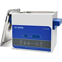 Gtsonic 3 Liter Ultrasonic Cleaner with Digital Timer & Heater for Jewelry Watch Glass Circuit Board Dentures Small Parts Dental Instrument