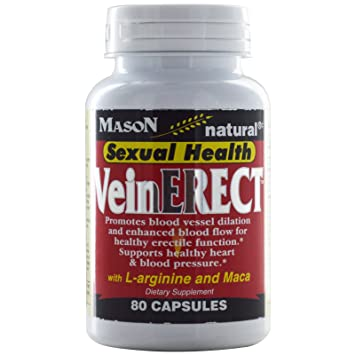 Mason Natural VeinErect with L-Arginine & Maca – 80 Capsules