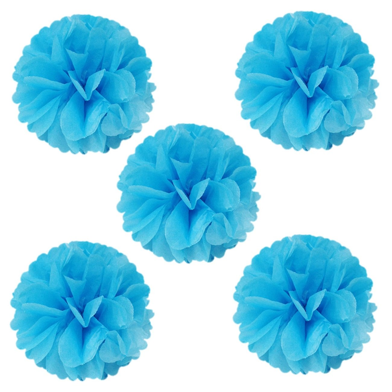 Baby Showers 8 Birthday Parties Wrapables A67637c Set of 5 Tissue Pom Poms Party Decorations for Weddings Hot Pink and Nursery Decor