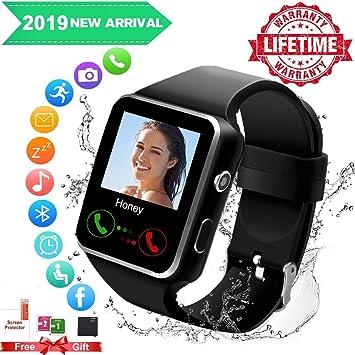 Reloj Inteligente, Android Smartwatch con Bluetooth Fitness ...