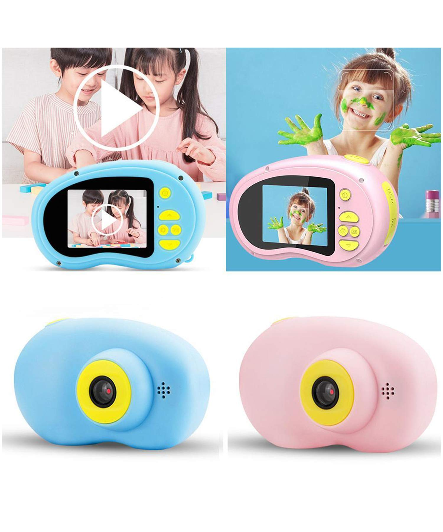 Yirind Kids Camera Support Video Function, 2 inch HD Digital 800MP Child Camera for Outdoor Play, for 3-12 Years Old Children (SD Card Not Included),Blue by Yirind (Image #1)