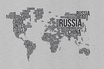 Buy World Map Wallpaper, Textography World Map Wallpaper For ...