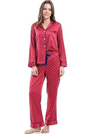 5f9d03535f1 Serenedelicacy Women s Silky Satin Pajamas
