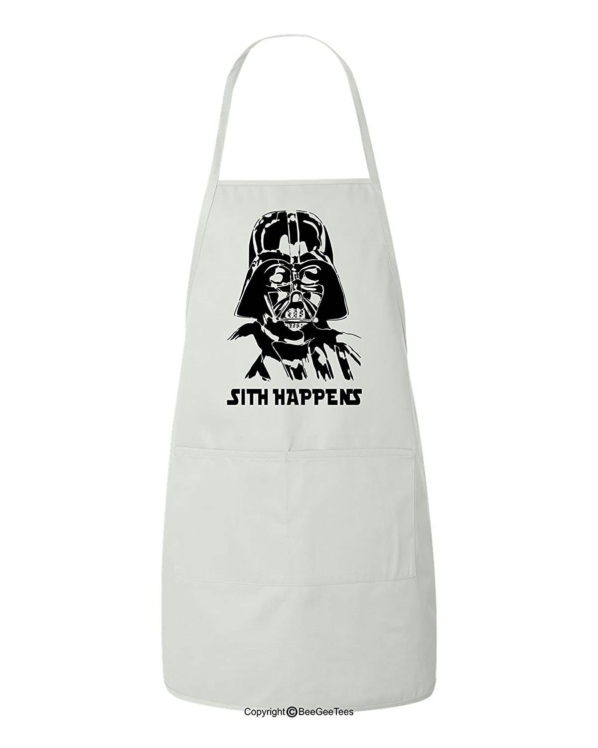 Sith Happens Darth Vader Funny Star Wars Inspired BBQ Jediキッチンエプロンby BeeGeeTees   B07858J7R1