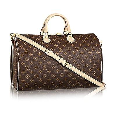 9988e9077d1f Louis Vuitton Monogram Canvas Crosss Body Leather Handles Handbag Speedy  Bandouliere 40 Article  M41110  Handbags  Amazon.com