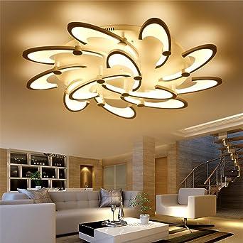 Wohnzimmer Acryl Kunst Deckenleuchte Personalisierte LED Modern Einfach  Mode Kreative Schlafzimmer Beleuchtung Dreifarbiges Licht Versprechen  Dimmen, ...