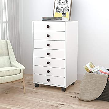 Amazon.com: DEVAISE 7 Drawer Mobile Cabinet,Chest Dresser For Closet /  Office, White: Office Products
