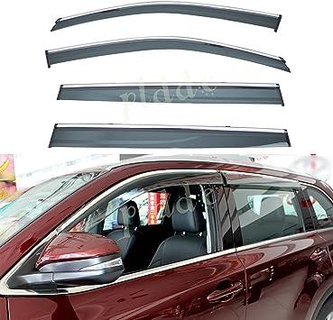 4pcs Smoke Tint Sun//Rain Guard Vent Shade Window Visors Fit 00-05 Chevy Impala