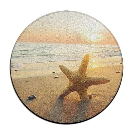 Amazon Com Hdmei Beach Starfish Chair Pads Soft Circular Cushion