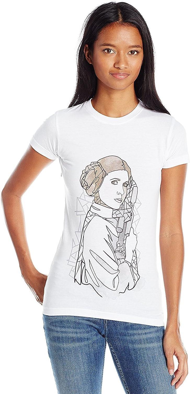 LADIES Official Licensed STAR WARS PRINCESS LEIA White T-Shirt