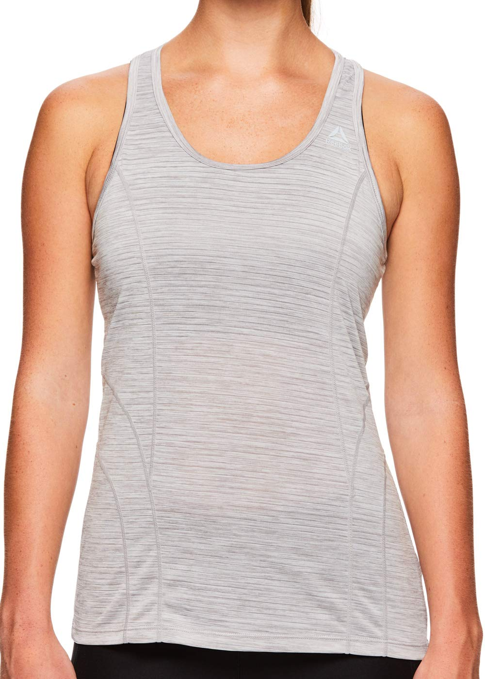 Reebok Women's Dynamic Fitted Performance Racerback Tank Top - Silver Sconce Heather, Small by Reebok (Image #4)