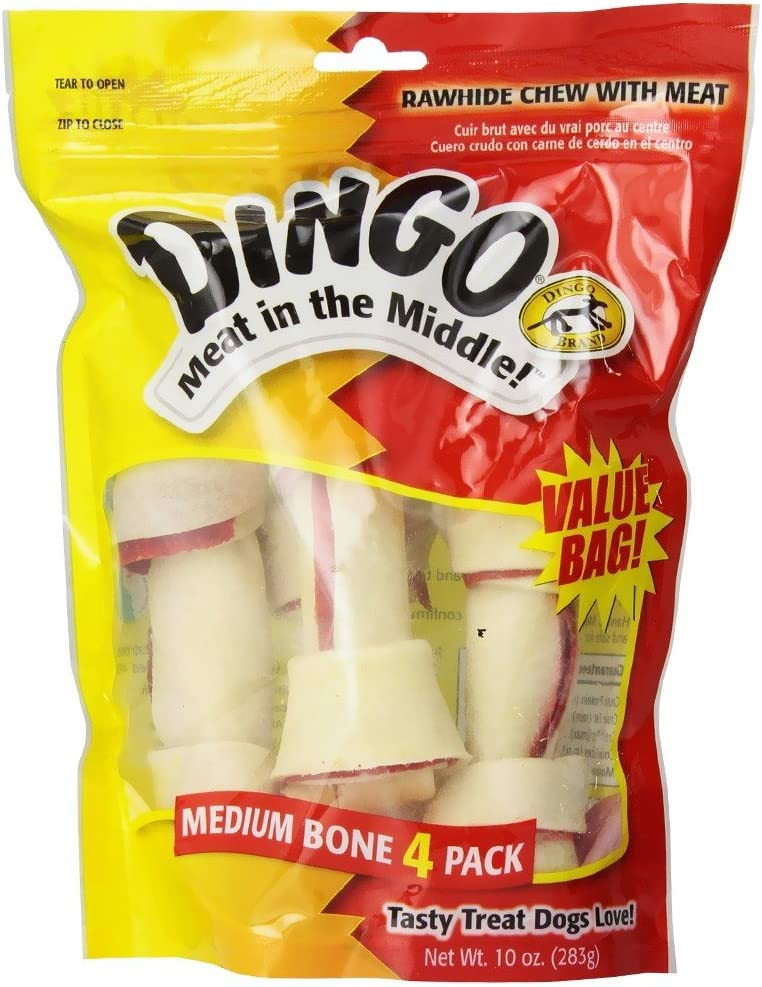 Dingo Premium Rawhide Dog Bone Made With Real Chicken