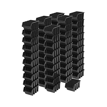 60 pieza Caja de 1,5 l en caja apilables Cajas de almacenamiento Caja Estantería