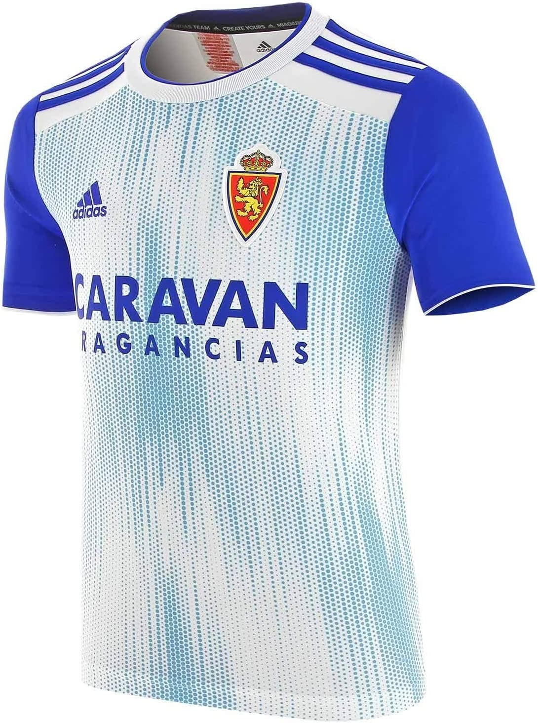 adidas Real Zaragoza Primera Equipación 2019-2020 Niño, Camiseta, White-Light Blue: Amazon.es: Deportes y aire libre
