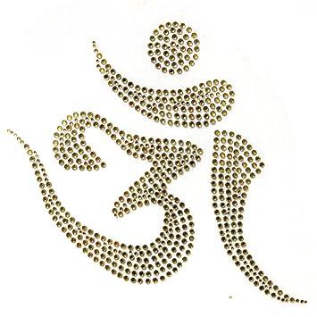 Amazon.com: OM Meditación budista Crystal Gold Hot Motif ...