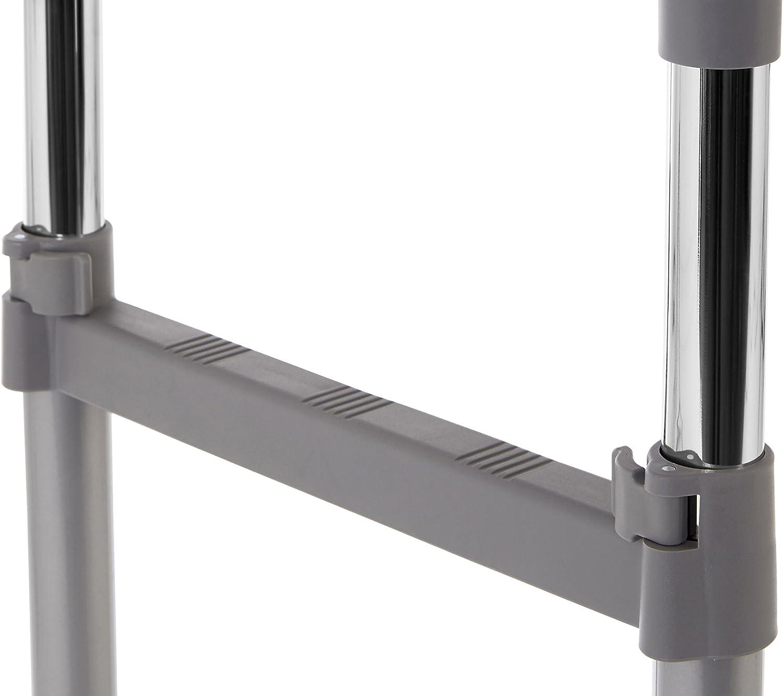 Chrome Premier Housewares Clothes Hanging Rail with Wheels