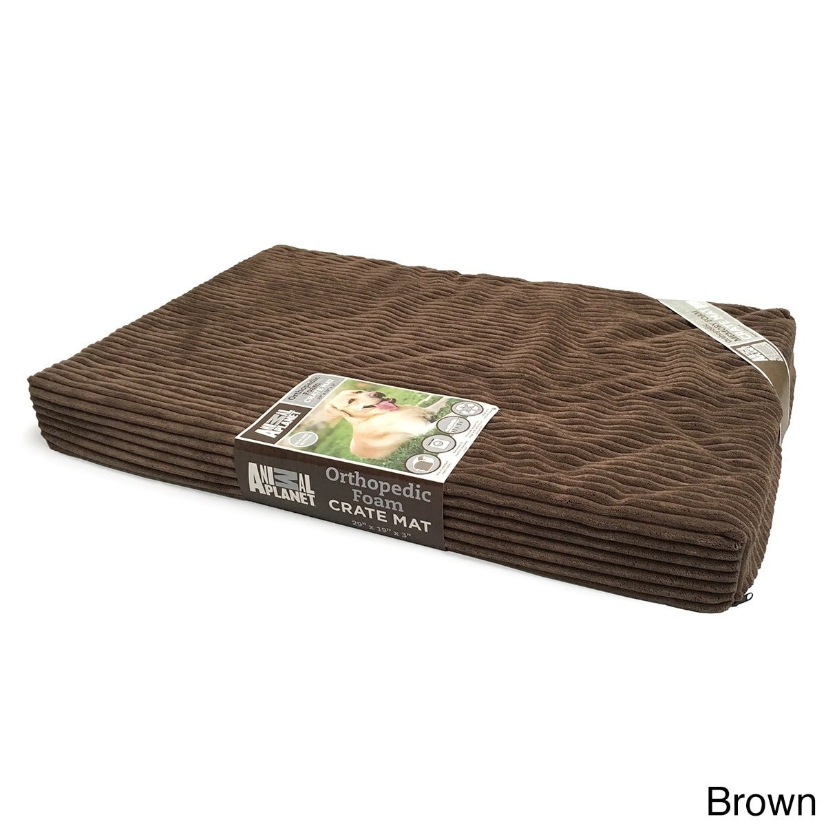 Animal Planet Orthopedic Pet Bed, 35''x22''x3'', Brown