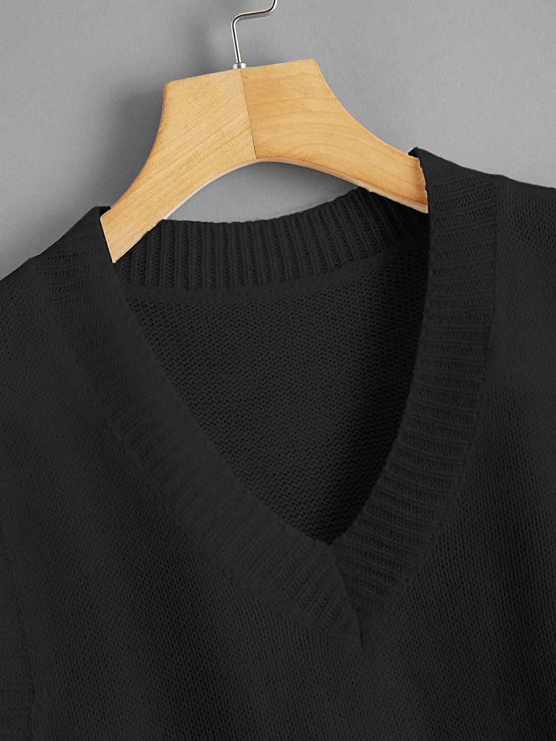 Floerns Womens Solid V Neck Classic Sweater Vest