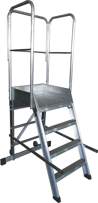 Arcama 1EP60060099 Escalera plataforma móvil industrial, 60 x 60 x 99 cm: Amazon.es: Bricolaje y herramientas