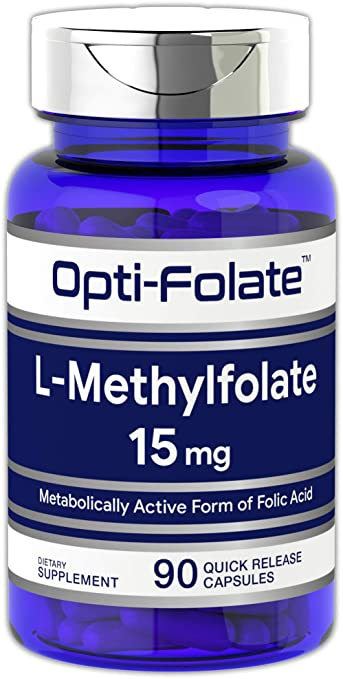Opti-Folate L-Methylfolate 15 mg (90 Capsules) | Optimized and Activated