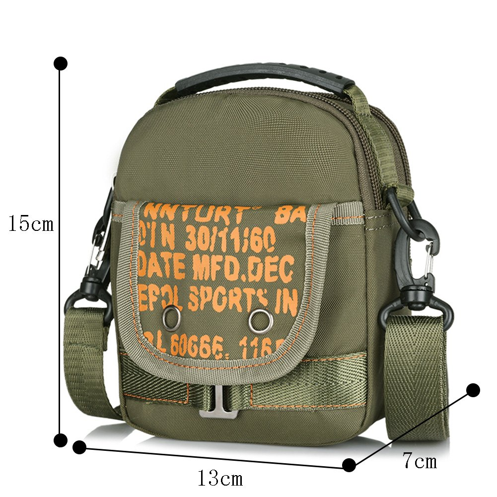 Genda 2Archer Small Lightweight Waterproof Nylon Multifunction Shoulder Bag