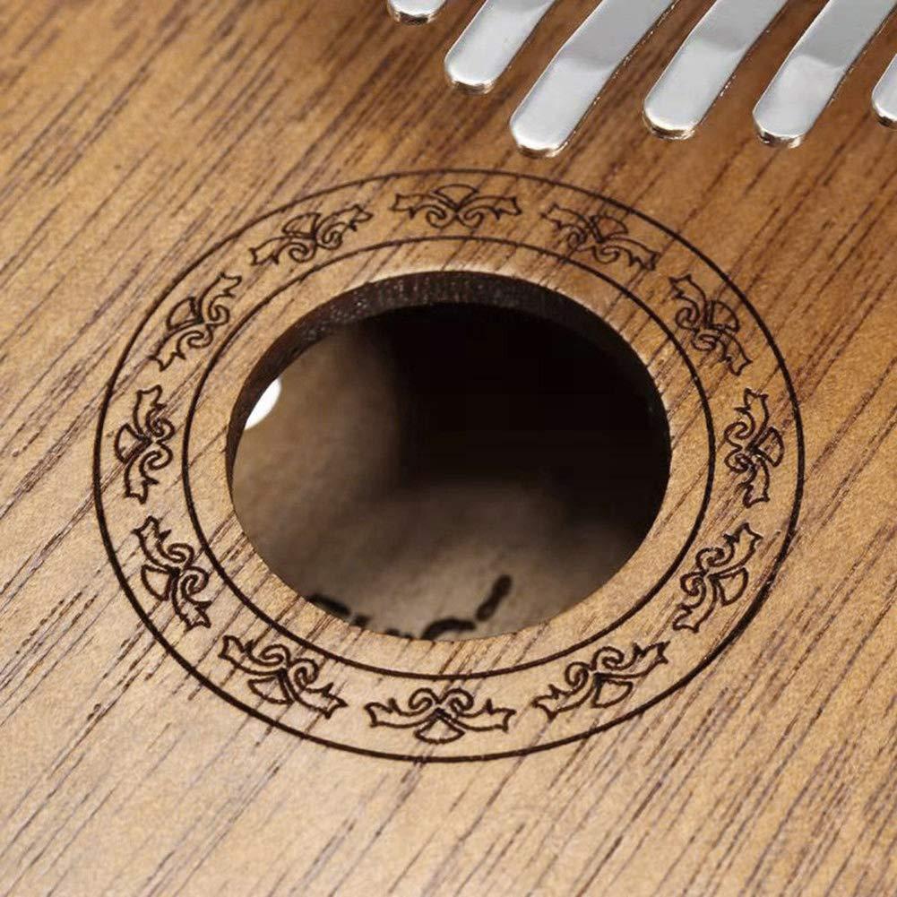 Wood hAohAnwuyg 17-Key Kalimba,Musical Instruments,17 Key Finger Kalimba Mbira Thumb Piano Pocket Size Wooden Musical Instrument