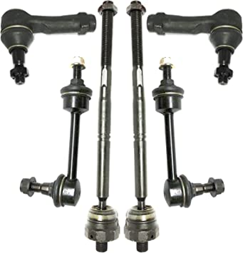 Inner /& Outer 4-Pcs Tie Rod End Set For 2004-2008 Ford F-150 RWD Front LH /& RH