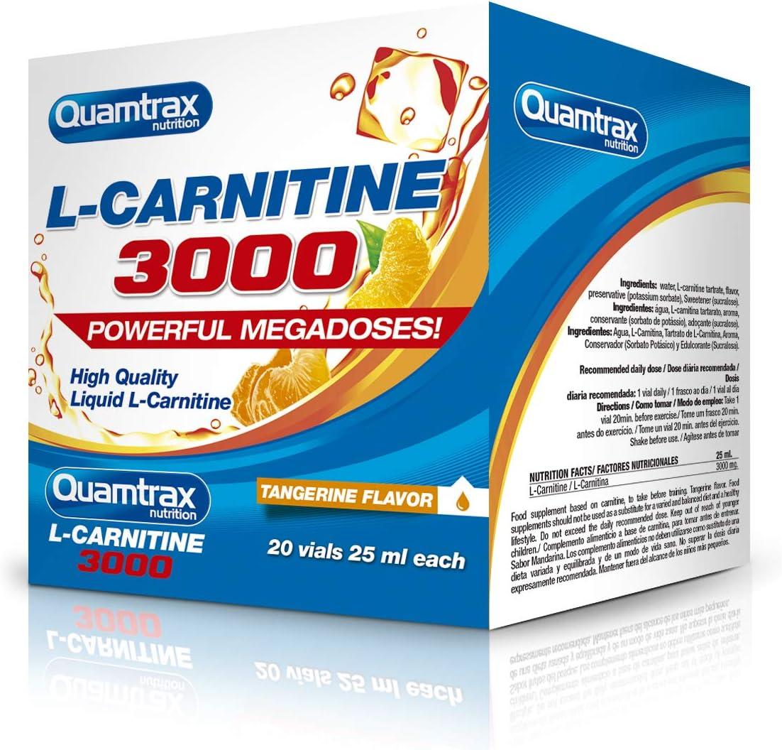 Quamtrax Nutrition L-Carnitine 3000 - 20 viales x 25 ml Mandarina