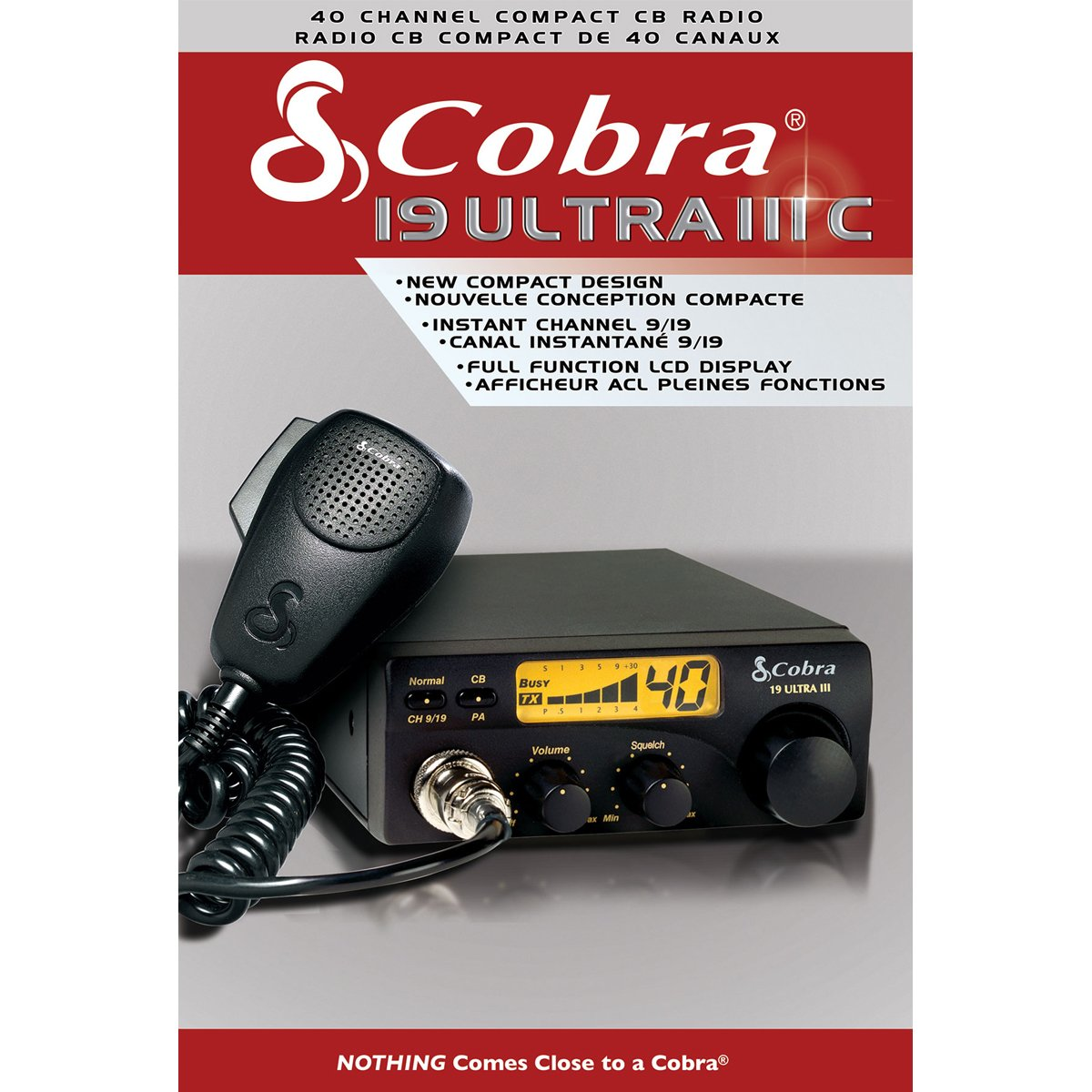Cobra 19ULTRAIII 40 Channel Compact CB Radio with Illuminated Display Canadian Compliant