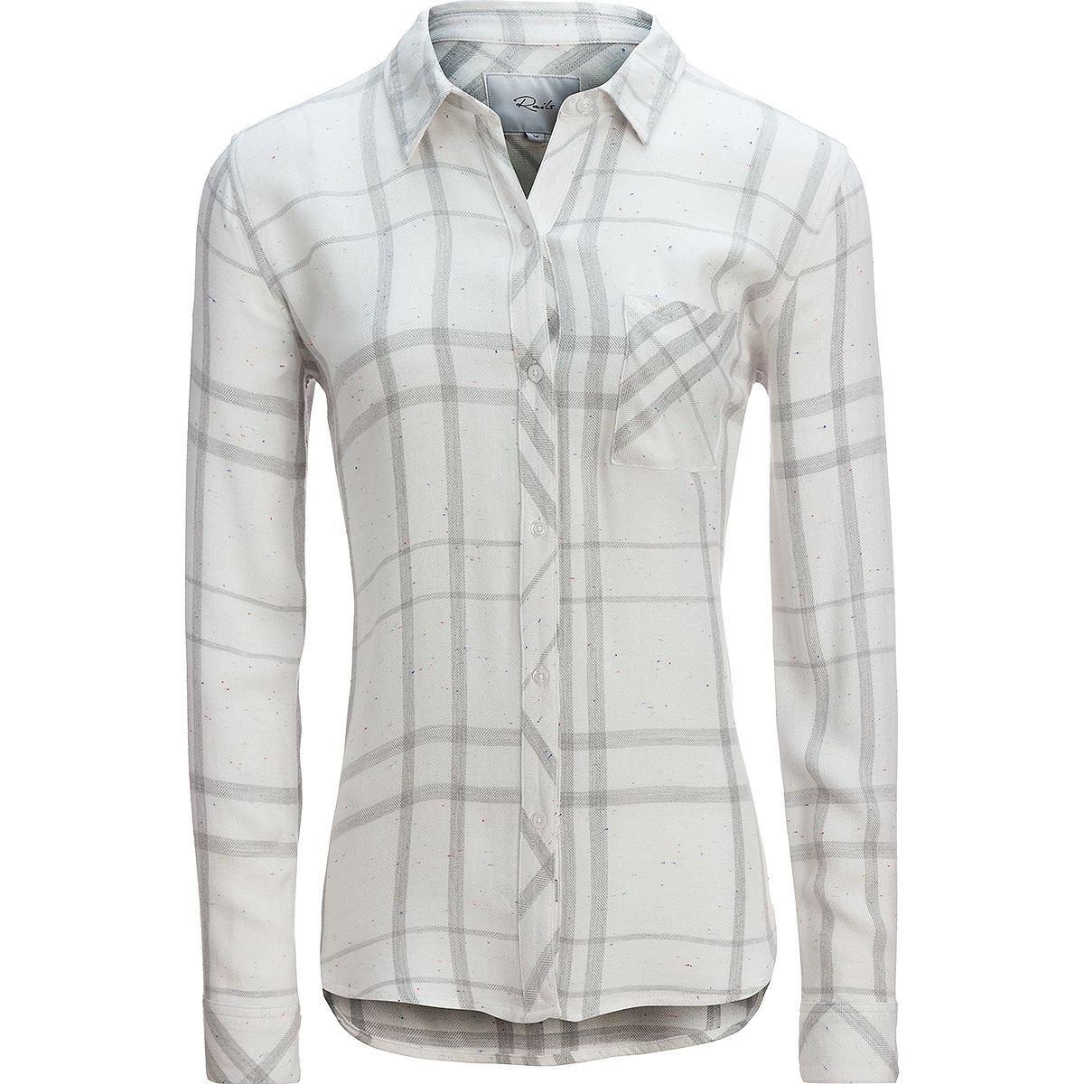 Rails Hunter White/Charcoal/Funfetti Long-Sleeve Button Up - Women's White/Charcoal/Funfetti, XS