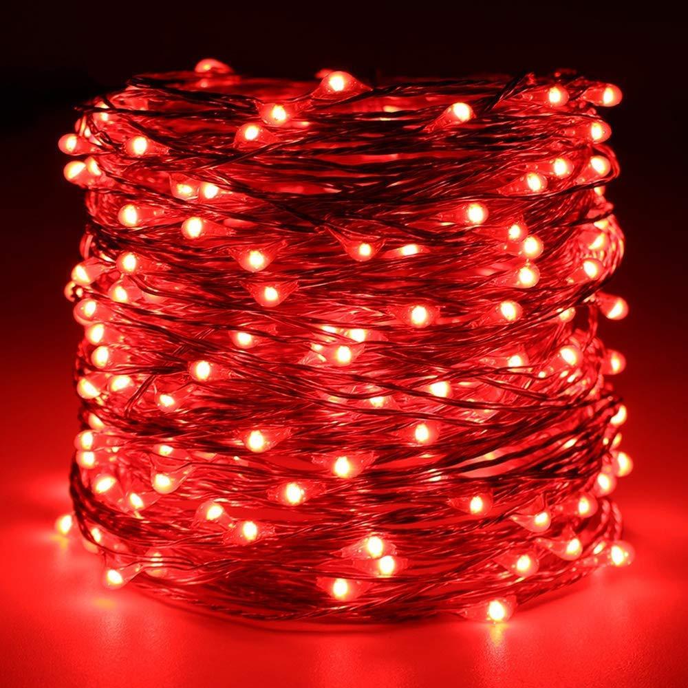 Landschaft M/ärchengarten,Weihnachtsbaum String Lights Lichterkette FeiliandaJJ 300LED 30M Extra lange Sternenhimmel Wasserdicht Kupferdraht LED Licht Dekoration f/ür Outdoor Rasen Terrasse Gelb