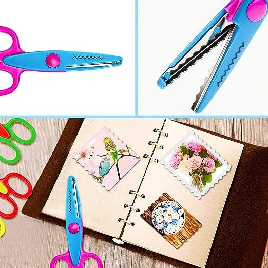 E-More - Tijeras decorativas de papel, para recortes, manualidades, manualidades, cortadores de borde ondulado, ideal para profesores, estudiantes, ...