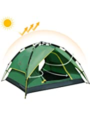 Camel PopUpTent Waterpoof Camping Tent 2-3 Man Dome Tents Automatic Family Sun Tent For Beach Outdoor Garden Fishing Picnic