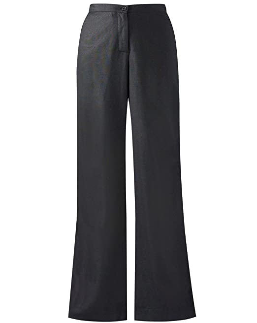 SIMPLY BE BLACK WIDE LEG TROUSERS BACK ELASTICATED WAIST ZIP FASTENING SIZE 16